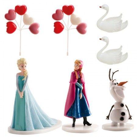 Műanyag figura - Frozen szett 6 db-os