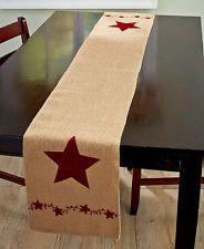 Arpillera país estrellas Bayas corredor de la tabla primitiva Cocina Decoración Rústica de país