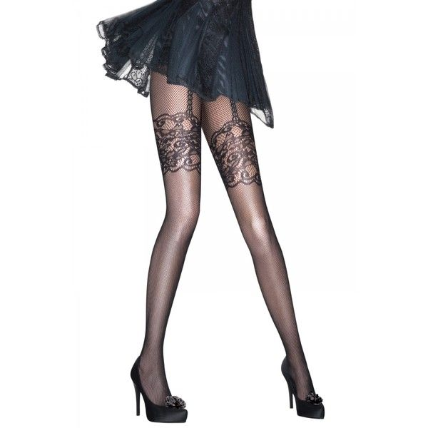 ... ❤ liked on Polyvore featuring intimates, hosiery, tights, fishnet stockings, fishnet tights, fishnet hosiery and fishnet pantyhose