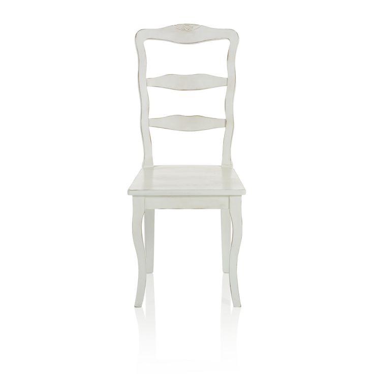 Stuhl, Hohe Lehne, geschwungene Beine, Buche