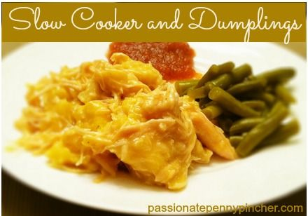 What's For Dinner?  Slow Cooker Chicken and Dumplings