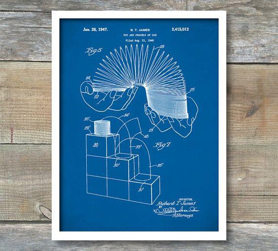 Slinky Toy Patent Slinky Toy Poster Slinky by NeueStudioArtPrints