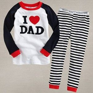 Child Costume Christmas Boys I Love Dad Suit Set