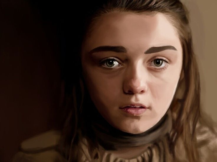 Arya Stark / Maisie Williams Digital Painting