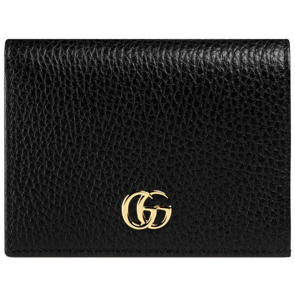 Gucci Leather Card Case (£195) ❤ liked on Polyvore featuring bags, wallets, accessories, black, women, genuine leather wallet, 100 leather wallet, leather snap wallet, card carrier wallet and genuine leather credit card holder wallet