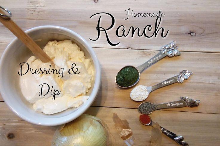 Homemade Ranch Salad Dressing & Dip