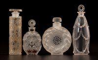 FROM THE ESTATE OF SHIRLEY JACOBS ALTER R. LALIQUE Four Lalique perfume bottles comprising; 'Les Cinq Fleur
