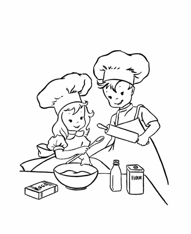 baked treats coloring pages - photo#36