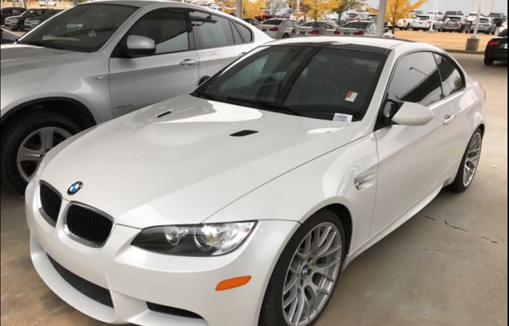 Saw this alpine white e92 m3 for sale at my local BMW dealer. #BMW #cars #M3 #car #M4 #auto