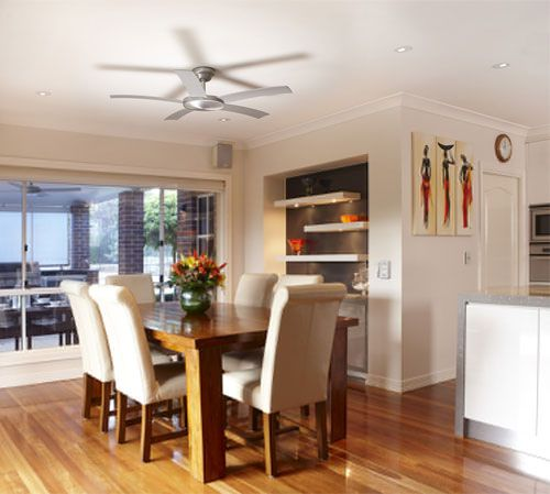The Attiude Ceiling fan range has a modern design with 5 uniquely curved blades. Sophisticated in its design it will become a feature of your space whilst operating both quietly and remaining energy efficient. With 6 selectable speeds customise the airflow throughout summer to suit your preferences.