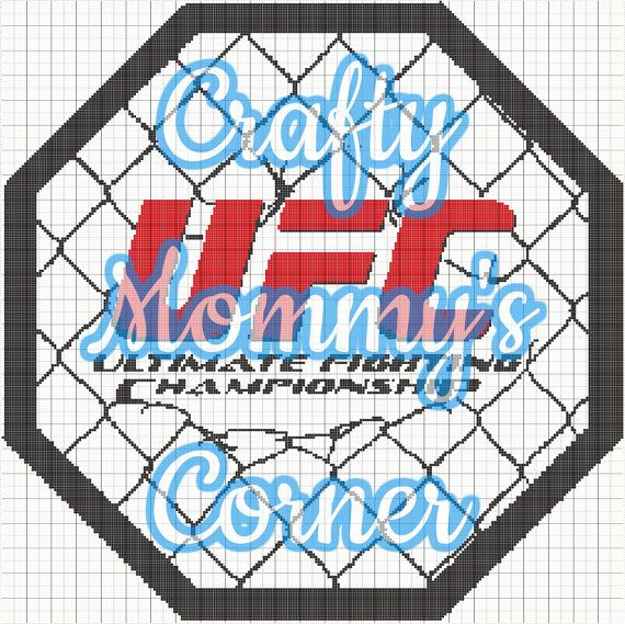 This is a graphghan pattern of the UFC barbed wire logo.  **Artwork is not mine but I created the pattern**  Graph-ghans can be made with single crochet or a C2C, for a larger afghan.  Color list will be provided for this pattern upon request  This pattern is 250 x 250 stitches  You have a choice of: - 2 x 2 pg PDF - 3 x 3 pg PDF - 4 x 4 pg PDF  All pattern purchases are non-refundable