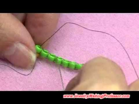 ▶ Beading Video: Brick Stitch - YouTube