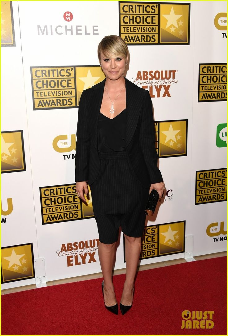 Kaley Cuoco wearing Amen suit at  Critics' Choice TV Awards