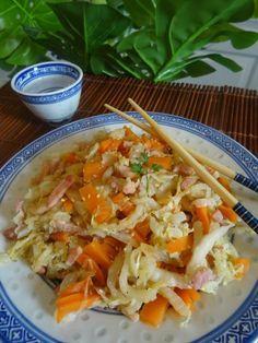 Recette Paléo : chou chinois aux carottes et lardons