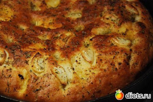 Фокачча с чесноком и травами: Горбушка: Группы - diets.ru