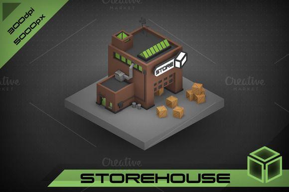 Storehouse by stallfish's art store on @creativemarket