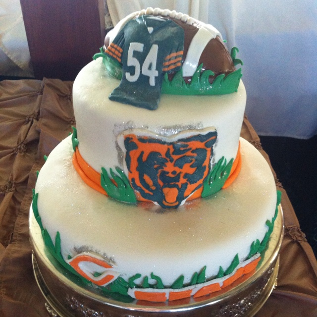 Best 198 Chicago Bears Parties & Cakes Images On Pinterest