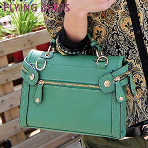 FLYING BIRDS! FREE SHIPPING European and American Retro fashion messenger bag  women leather handbag 2014   LS1132 $41.98