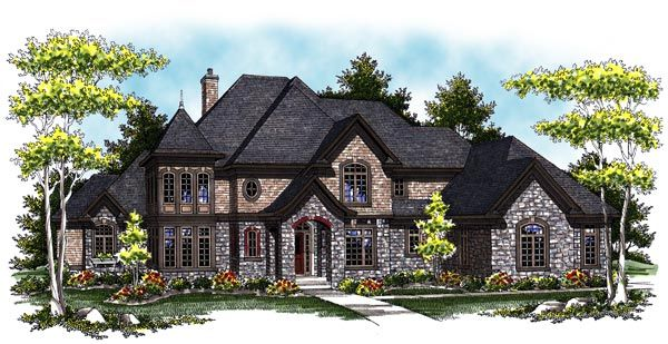House Plan Chp 33729 At Coolhouseplans Com French Country House Plans Country Style House Plans Luxury House Plans