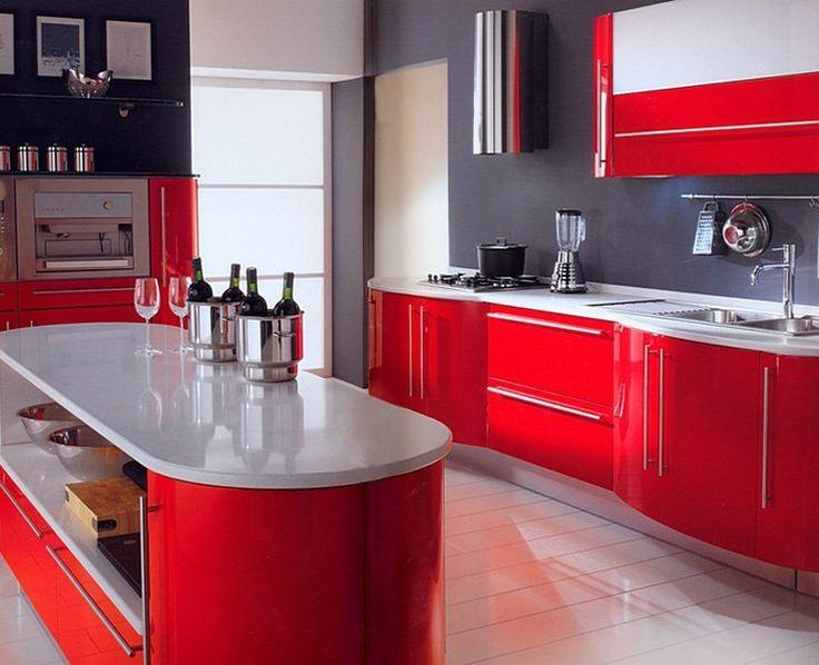Кухни в красном цвете | Cuisine.in.ua
