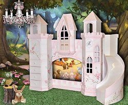 castle beds-woodland theme furniture-fairy bedroom decorating forest theme