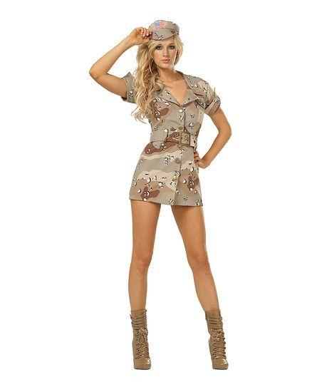 rg costumes tan camo soldier costume women - Soldier Girl Halloween Costume