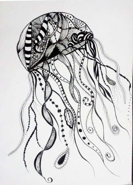 Denizanası... jellyfish... Art, linework, art, my work