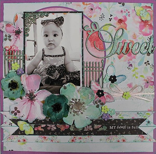 So Sweet - single page from Paper Roses Scrapbooking ♥ ♥ ♥