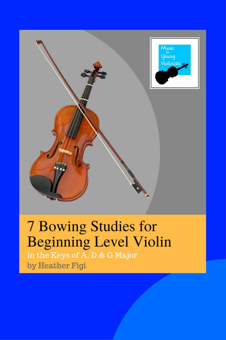 Download a FREE sample from 7 Bowing Studies for Beginning Level Violin & help your student conquer their down and up bows!