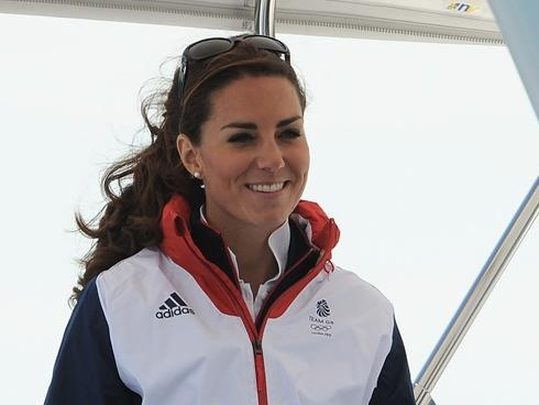 Duchess Kate goes for a sail during Olympics