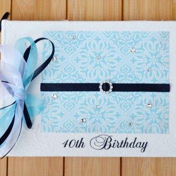 Dreamy Blue 40th Birthday Guest Book