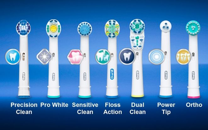 Braun oral b toothbrush heads have a round head designed specifically for a tooth-by-tooth clean and their bristles ensure optimal tooth coverage. They have superior plaque removal capacity  compared to the regular manual toothbrush and are compatible with the whole lineup of Oral B's battery and rechargeable handles.
