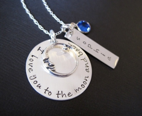 I love you to the moon and back Handstamped Jewelry #brilliant: Silver Necklaces, Handstamp Jewelry, Personal Sterling, I Love You, Jewelry Ultimate, Hand Stamped Jewelry, Jewelry Idea, Hands Stamps Jewelry, The Moon