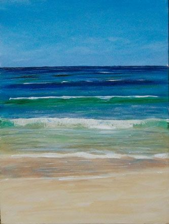 how to paint a sea scape | Lazy Wave
