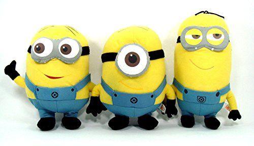 Despicable Me 2 Plush 9 Minion Doll Set Featuring Tim Dave and Stuart @ niftywarehouse.com #NiftyWarehouse #DespicableMe #Movie #Minions #Movies #Minion #Animated #Kids