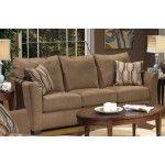 $629.00 Jackson Furniture - Keaton Sofa in Cappuccino Suede Fabric - 4167-03
