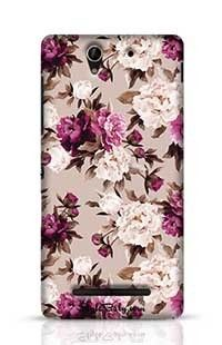 Flowers With White And Pink Background Sony Xperia C3 New Phone Case