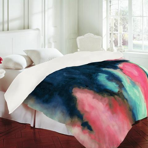 watercolor duvet