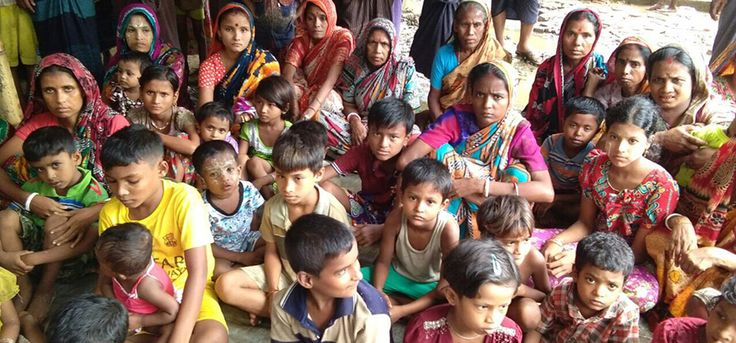 Rakhine State Hindus sheltering in Sittwe say relatives have been killed or are among the thousands seeking refuge in Bangladesh.