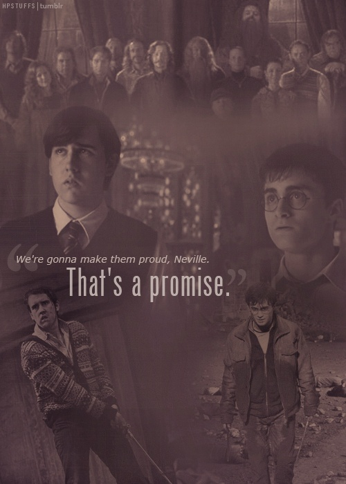 I just love Neville.  To me, I think he is one of the most tormented characters in the books and my heart breaks for him every time I read them.  However, I also loved seeing his development throughout the books and watching him become the bravest characters in the end.
