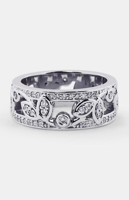 Custom Ring, Diamond Vine Band - I like this but it is a bit stiff - from Brilliant Earth