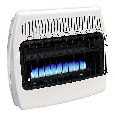 Liquid Propane Wall Heater Vent Free Blue Flame 30,000 Btu Home Indoor White New
