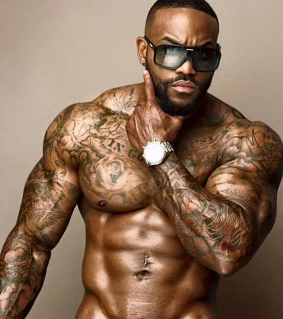 Men with beards tattoos and muscles