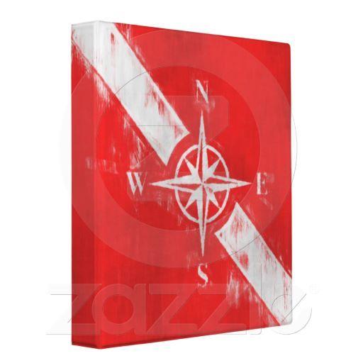 Compass with scuba flag