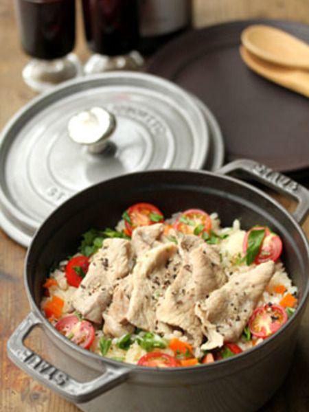今夜は洋風ご飯フライパン以外に炊飯器やストウブでピラフレシピ