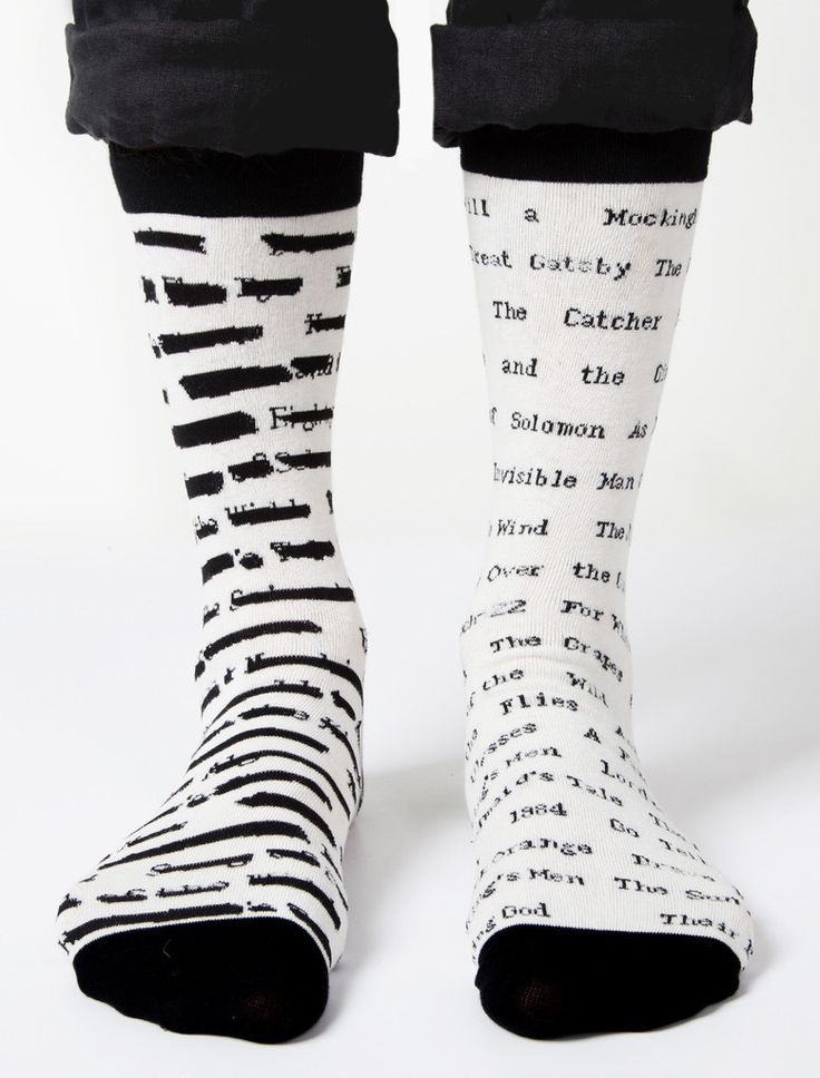 Banned books socks...love these!