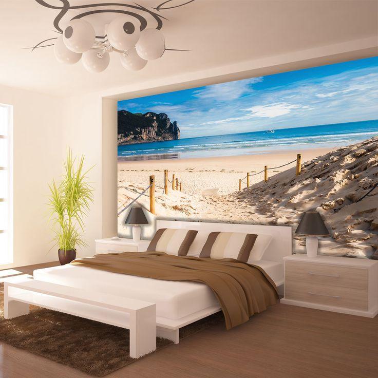 3d Schlafzimmer Tapeten  Poster Wandbild Tapeten Fototapete Wasser Meer Strand