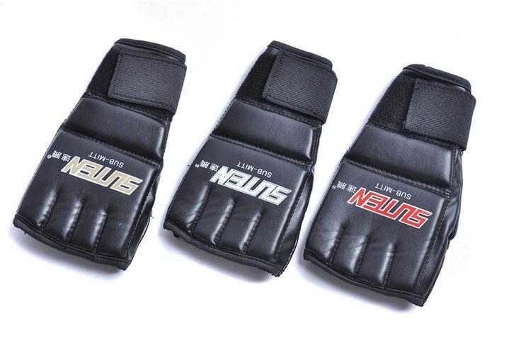 1 pair guantes de boxeo MMA Muay Thai karate Gym Punching Bag Boxing Gloves Men Half Mitt Train Sparring Kick Boxing Gloves