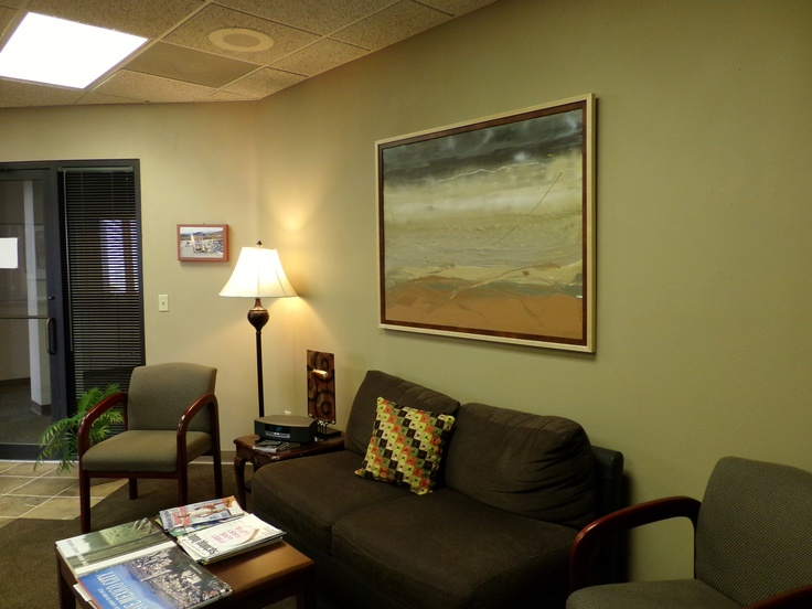 Waiting room painting for psycologist office in Osh Kosh, WI, I painted. Artist is Laura Weinshel  of Mymodernartmart.com
