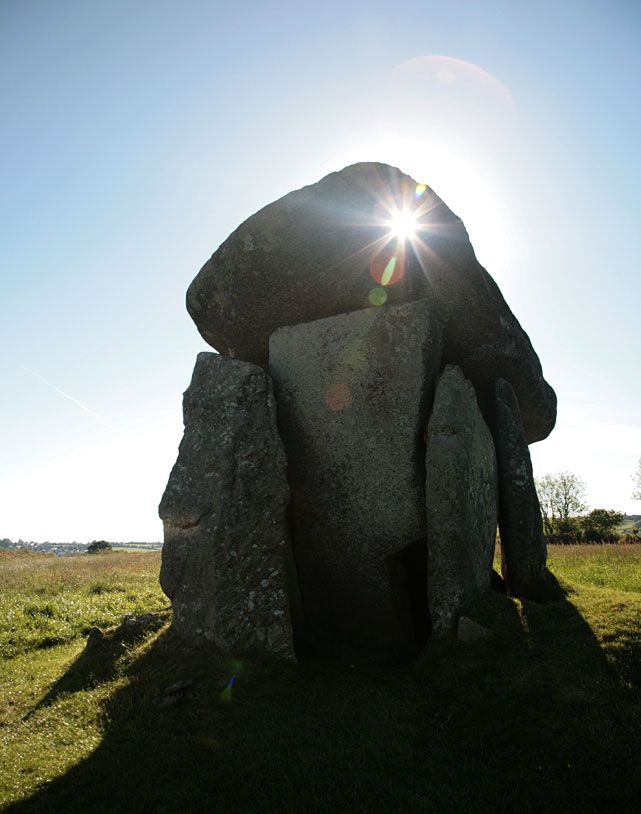 Trethevy Quoit is the biggest in Cornwall. The capstone alone is estimated to weigh 10 tons